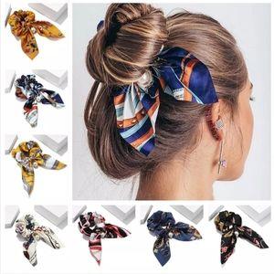 2 in 1 Scrunchie Bow Ribbon Scarf Hair bow